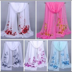 """Accessories - Lovely Chiffon Wraps, 63"""" x 20"""""""